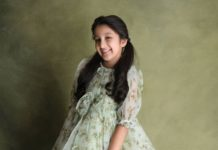Sitara Ghattamaneni in a green dress by Janya's closet-2