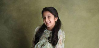 Sitara Ghattamaneni in a green dress by Janya's closet-2