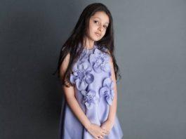 Sitara Ghattamaneni in a lilac frock by Janya's closet-2