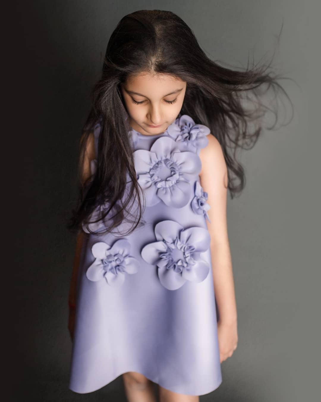 Sitara Ghattamaneni in a lilac frock by Janya's closet-3