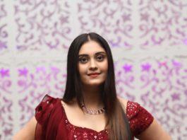 Surabhi Puranik in maroon lehenga at Sashi pre-release event-3.1