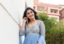 Surbhi Puranik in powder blue anarklai by Nallamz for sashi promotions-2