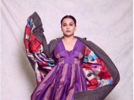 Vidya Balan in a purple outfit by Pero-1
