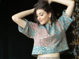 kajal aggarwal in co-ord set for movie promotions