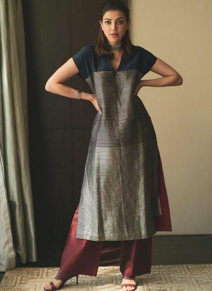 kajal aggarwal in payal Khandwala tunic set
