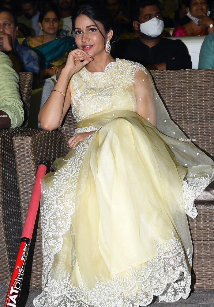 lavanya tripathi in a yellow transparent saree net saree