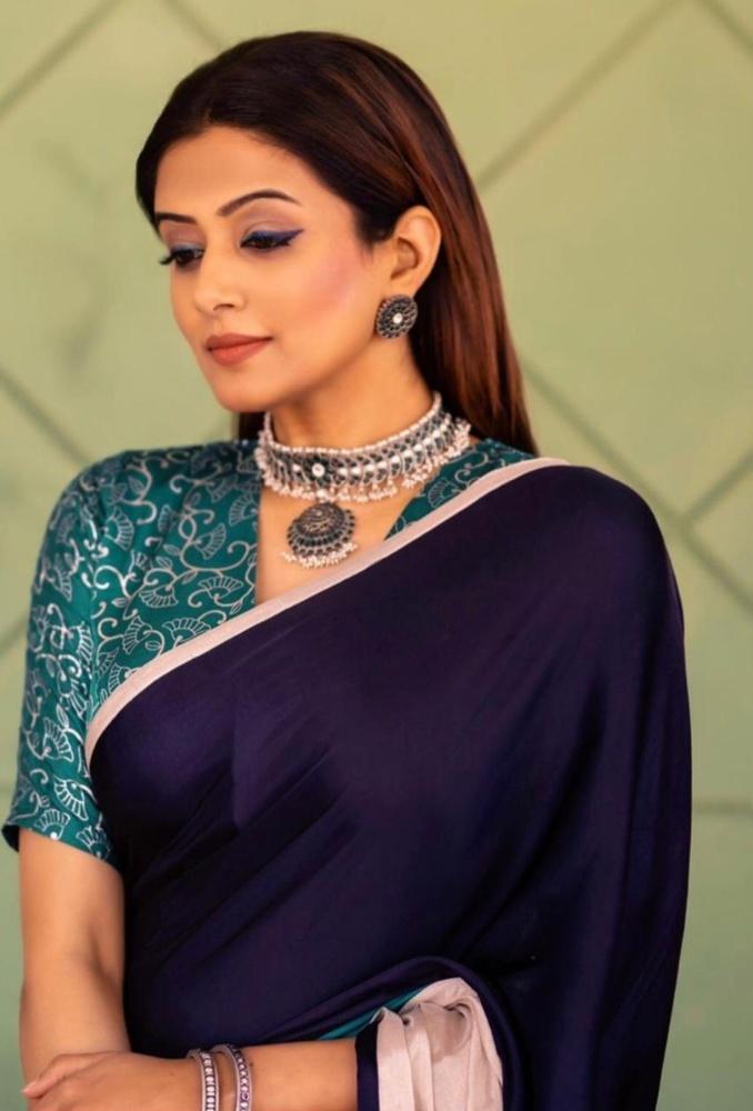 pillu mani in saree from the label udd