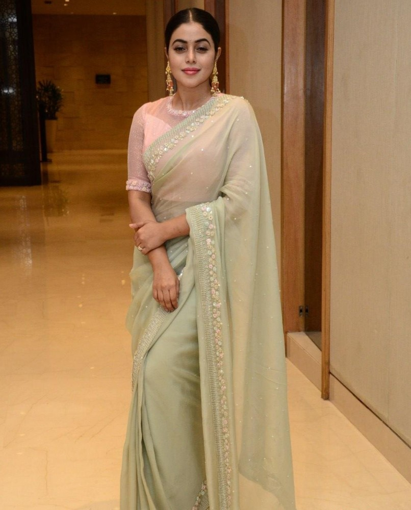 poorna at pre-release event of powerplay movie