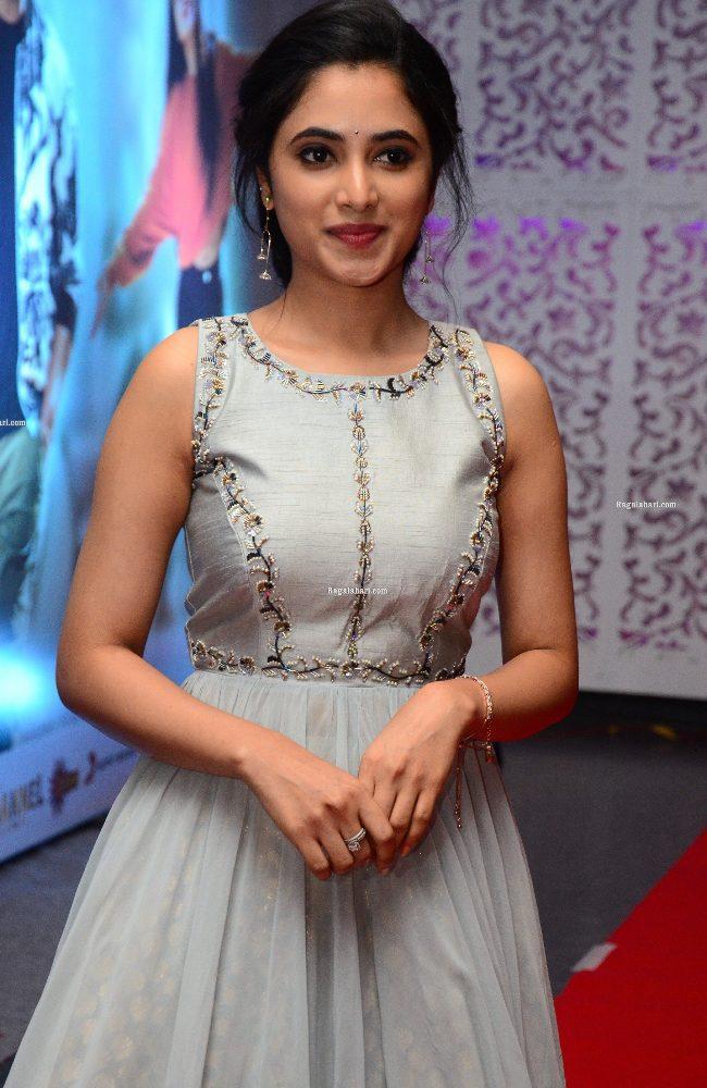 priyanka mohan in light blue gown at sreekaram movie release