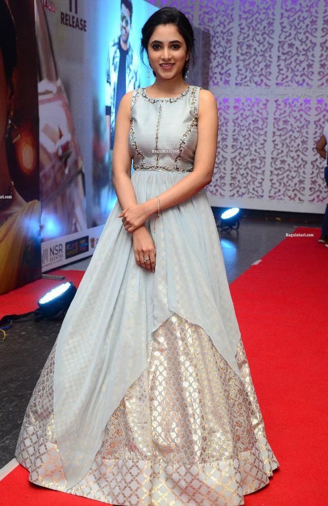 priyanka mohan in long gown at sreekaram movie grand release