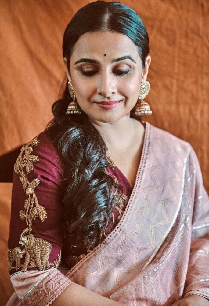 vidya balan in lehenga from the label gaurang shah