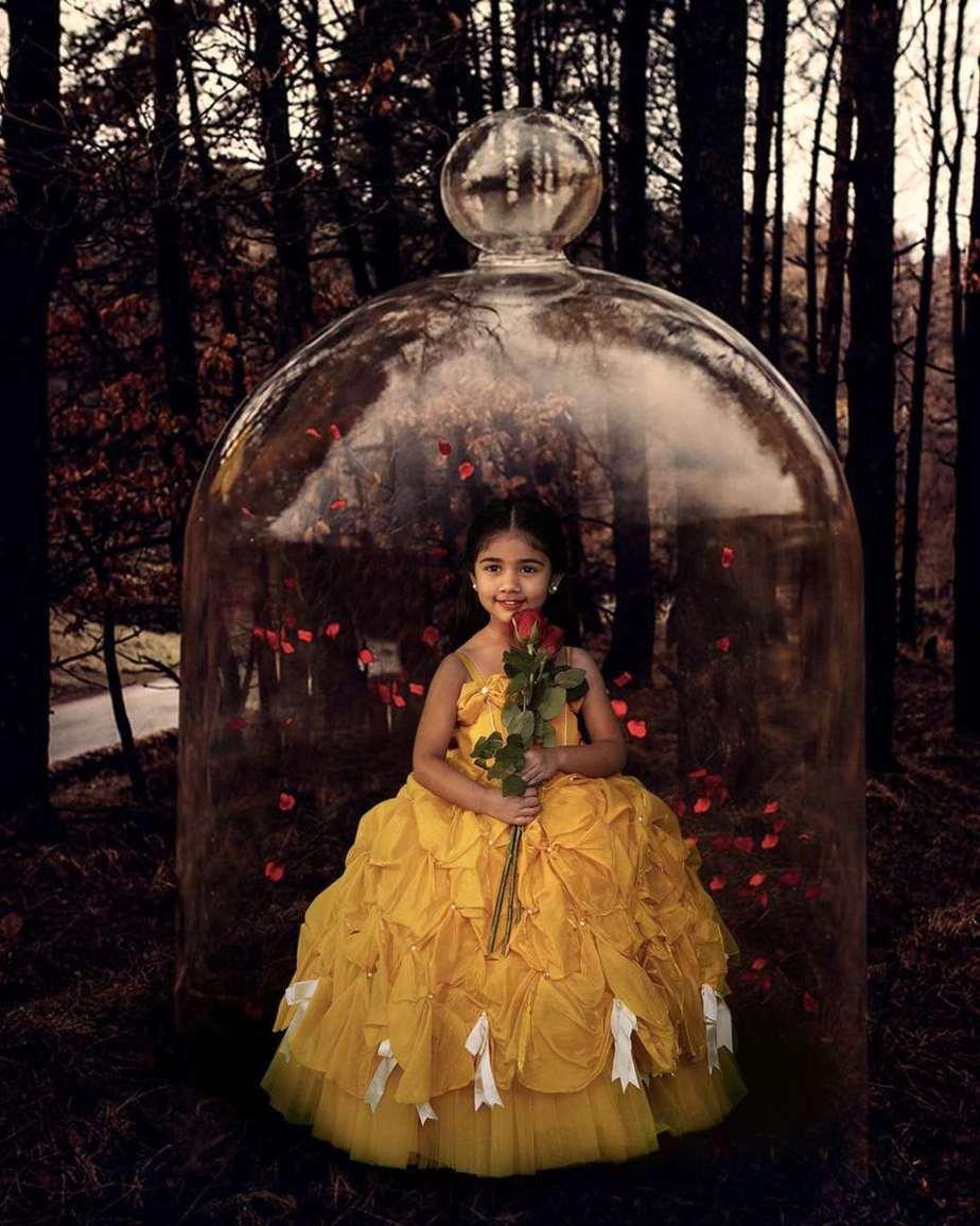 Allu Arha in yellow Janya's closet ball gown