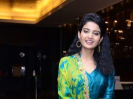 Ananya Nagalla in blue anarkali for vakeel saab promotions-1