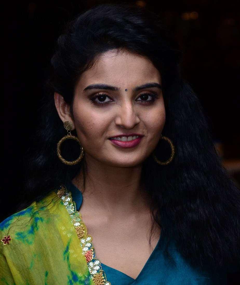 Ananya Nagalla in blue anarkali for vakeel saab promotions-3