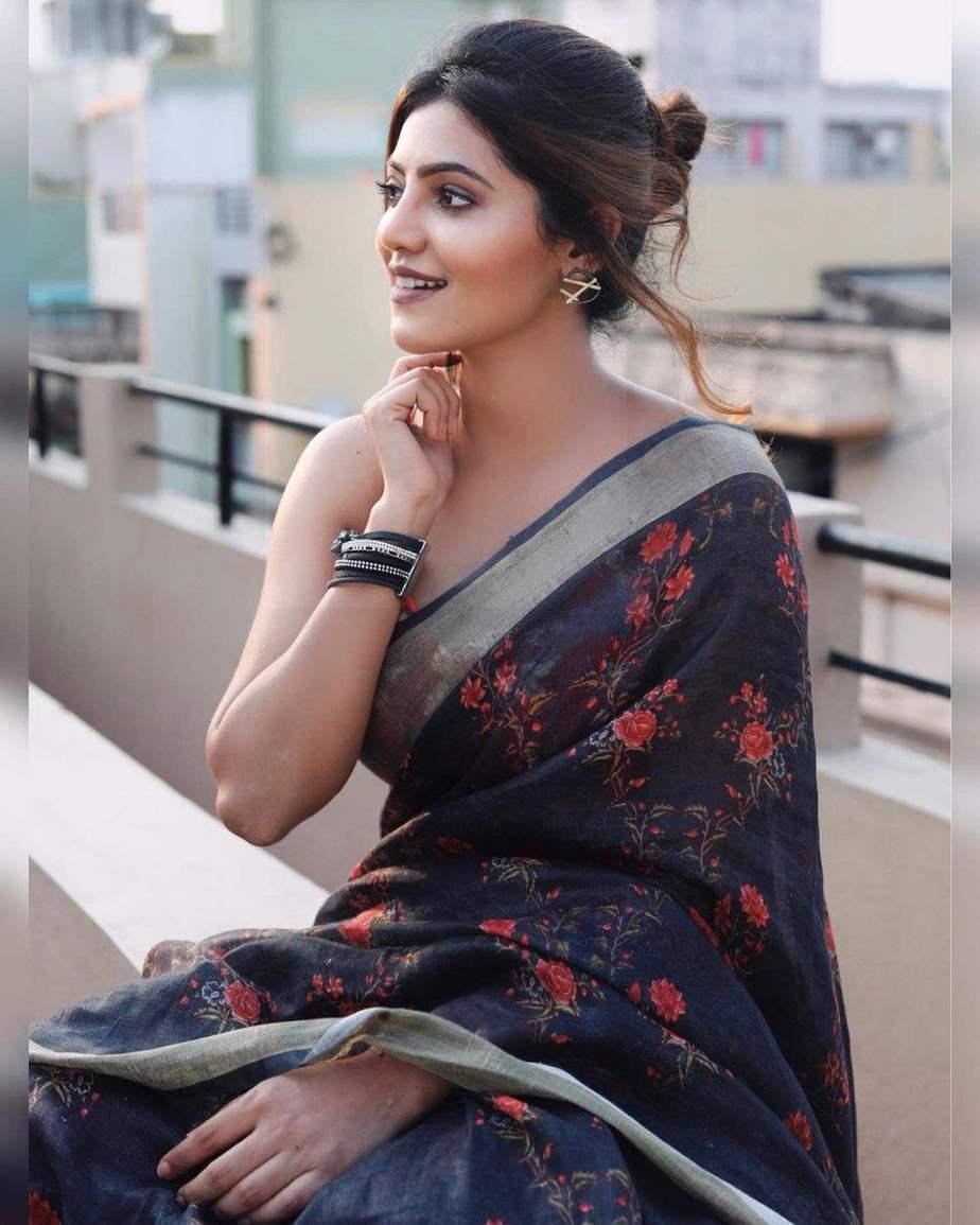 Athulya Ravi in a saree by elegant fashion-3