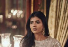 Hebah Patel in ivory Manish Malhotra for 10 years of Sandy-1