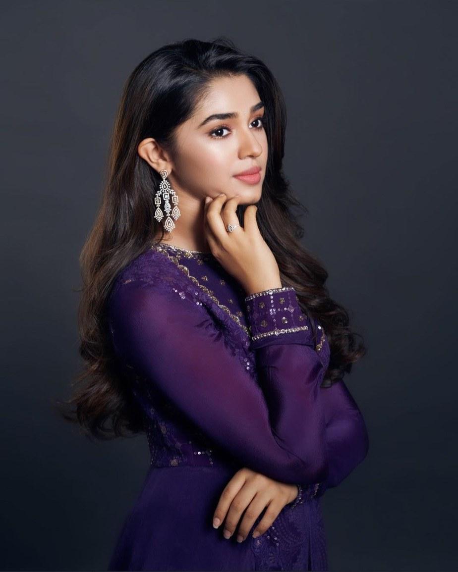 Krithi Shetty in purple anarkali by issa studio-2