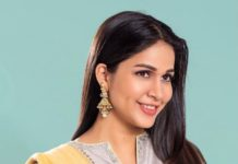 Lavanya Tripathi in grey salwar suit by Sravanthi-2