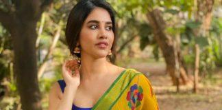 Nabha Natesh in yellow saree for Ugadi-1