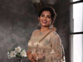 Nakshathra Nagesh in champagne gold lehenga by label evangelin-2