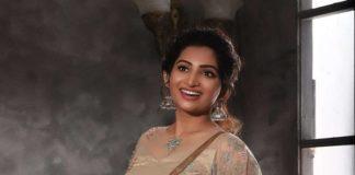 Nakshathra Nagesh in champagne gold lehenga by label evangelin-2