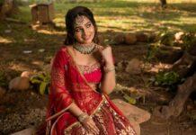 Nakshathra Nagesh in red lehenga by Adhiktha-3