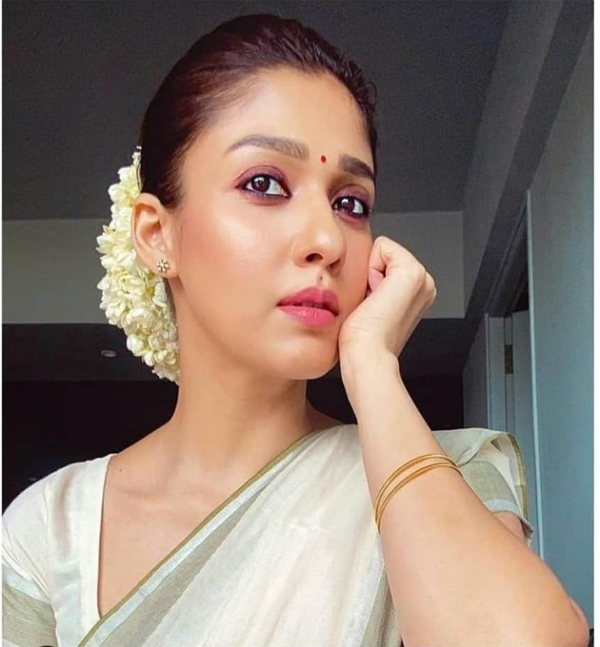 Nayanthara in set saree for Vishu-1