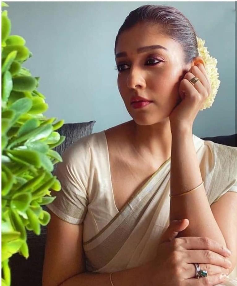 Nayanthara in set saree for Vishu-2