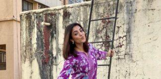 Nisha Aggarwal in a purple kurta set by Paraa-2
