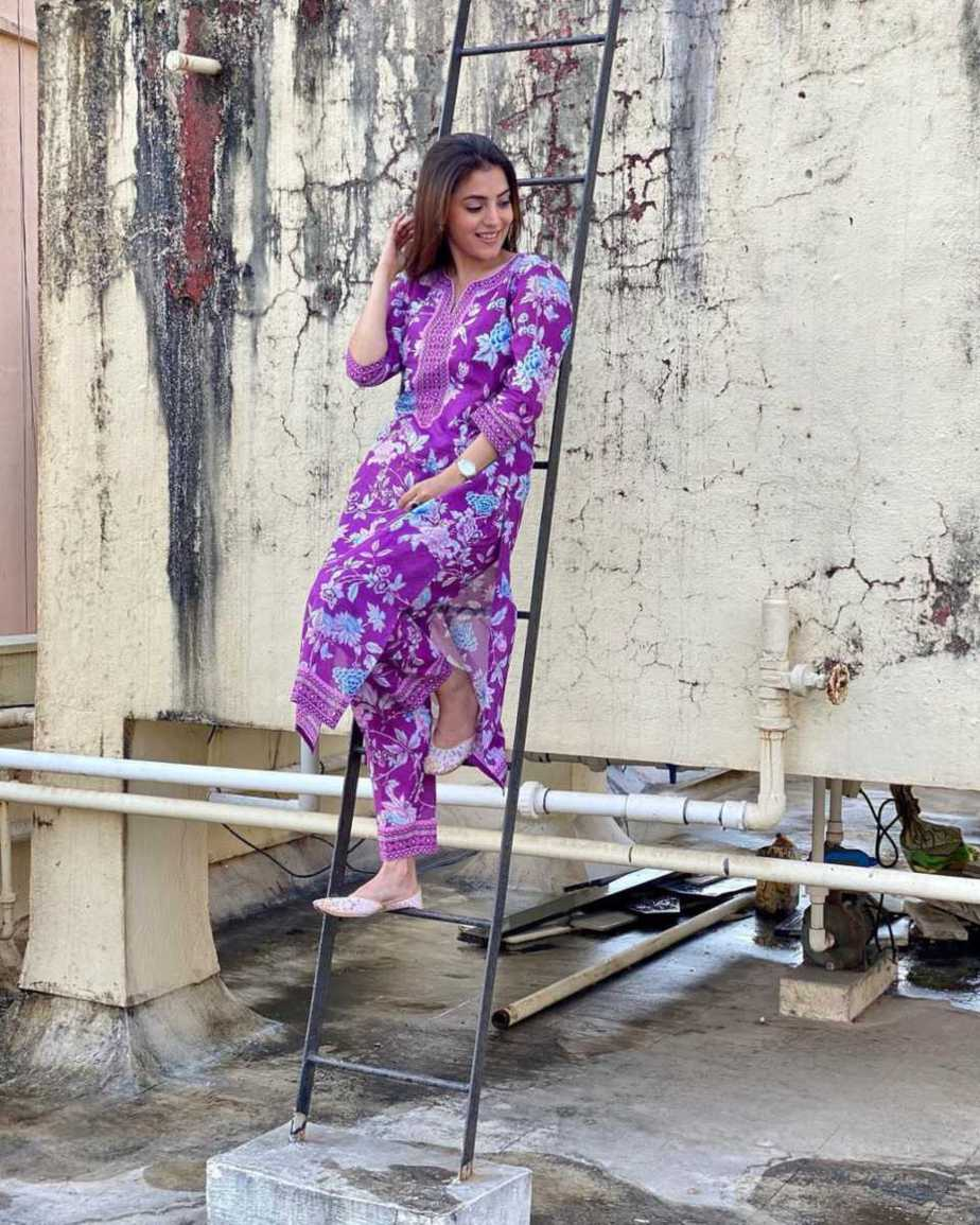 Nisha Aggarwal in a purple kurta set by Paraa-4.1