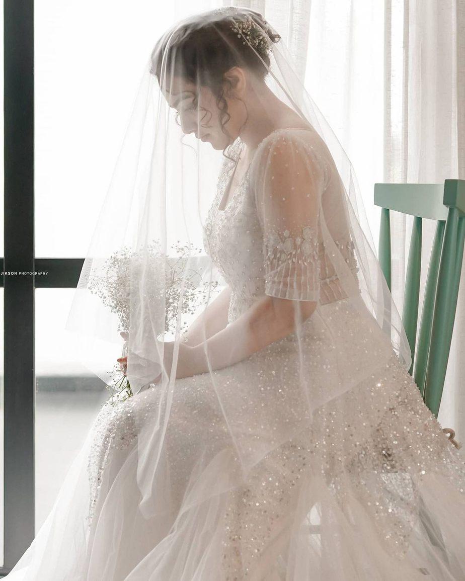 Nithya Menen in label M white gown -1