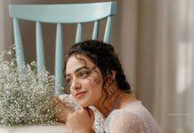Nithya Menen in label M white gown -3
