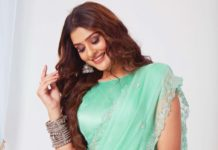 Payal Rajput in mint saree by DK designer studio-3