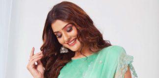 Payal Rajput in mint saree by DK designer studio-3