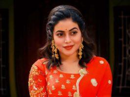 Poorna in red lehenga by brand mandir for Dhee kings Vs. queens-3