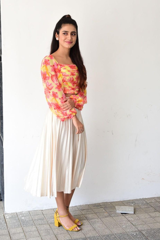 Priya Prakash varrier in skirt and top for Ishq promotions-1