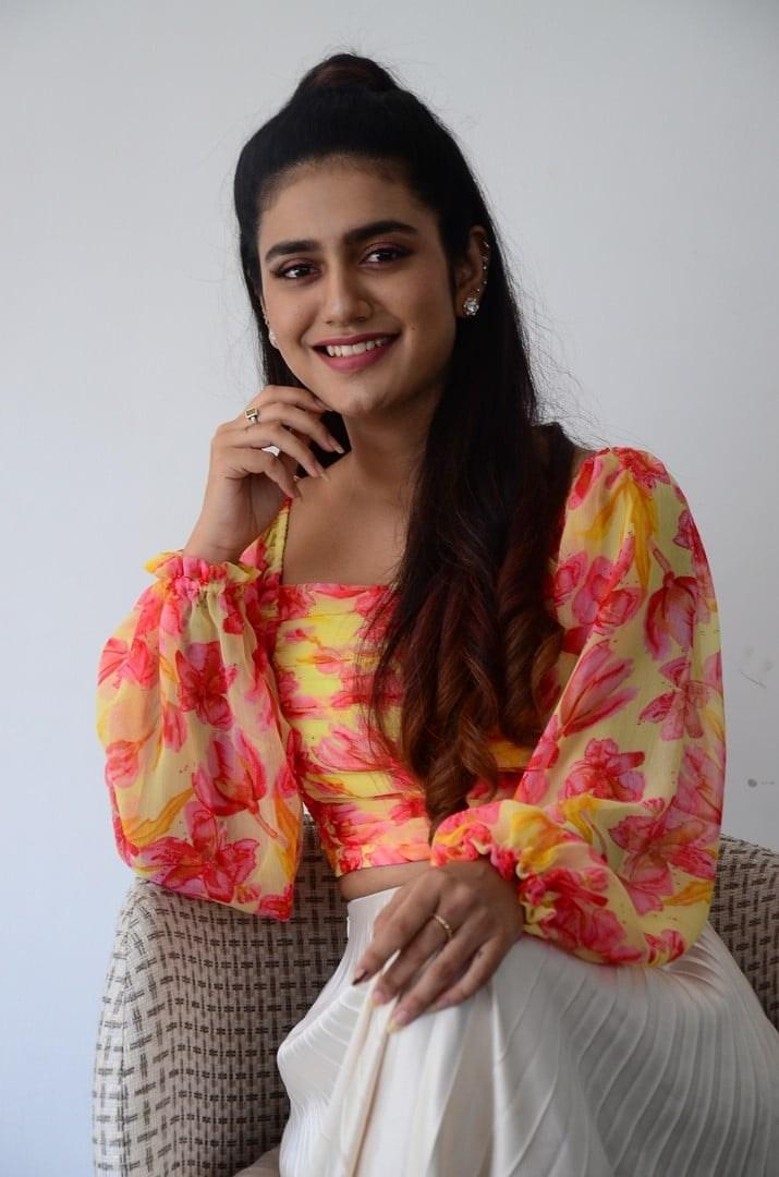 Priya Prakash varrier in skirt and top for Ishq promotions-3
