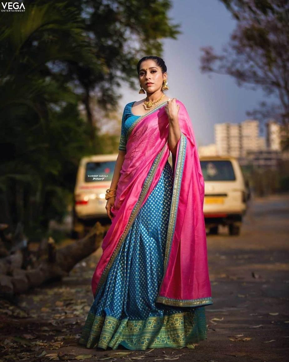Rashmi gautam in sleek chi couture lehnga for ugadi (1)