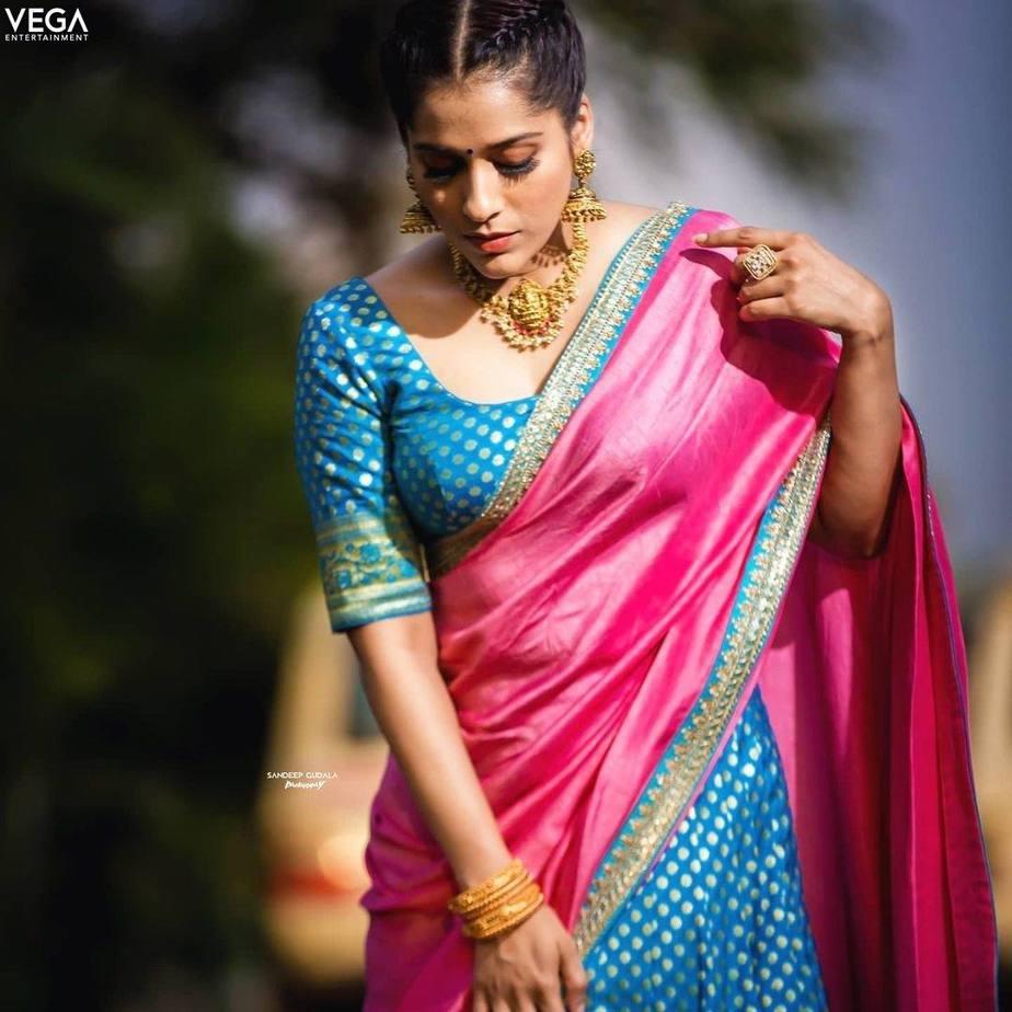 Rashmi gautam in sleek chi couture lehnga for ugadi