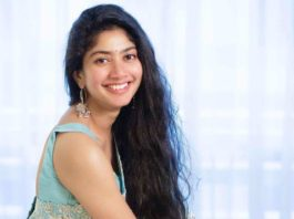 Sai pallavi in sky blue mrunalini rao saree for love story promotions-3