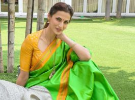 Shilpa Reddy in green saree for Ugadi-1
