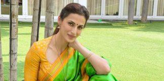 Shilpa Reddy in green saree for Ugadi-1