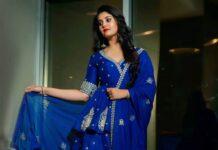 Surbhi Puranik in blue Vaishali agarwal lehenga-3