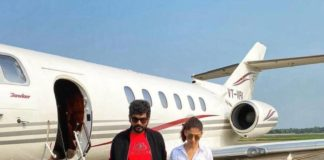Vignesh Shivan and Nayanthara in casuals leaving for kochi