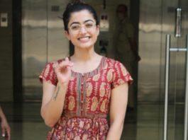 rashmika mandanna in indo-western look