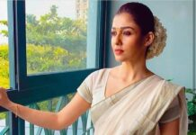 nayanthara in a white kerala saree