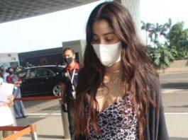 jhanvi kapoor in jumpsuit at airport