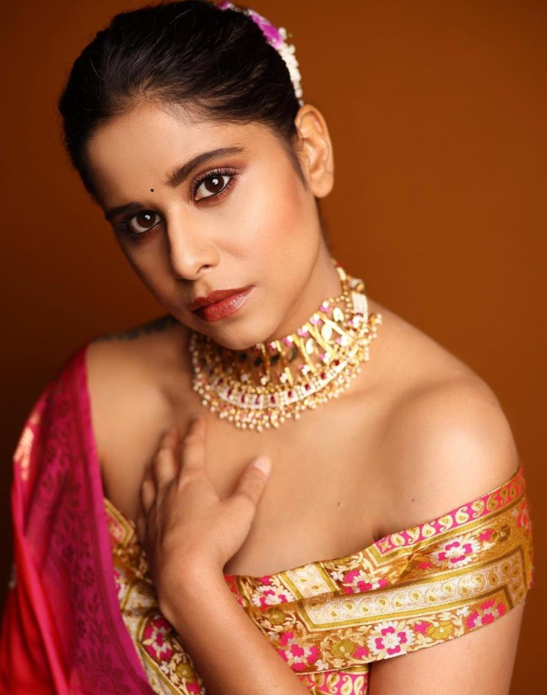 sai tamhankar in lehenga from warp and weft