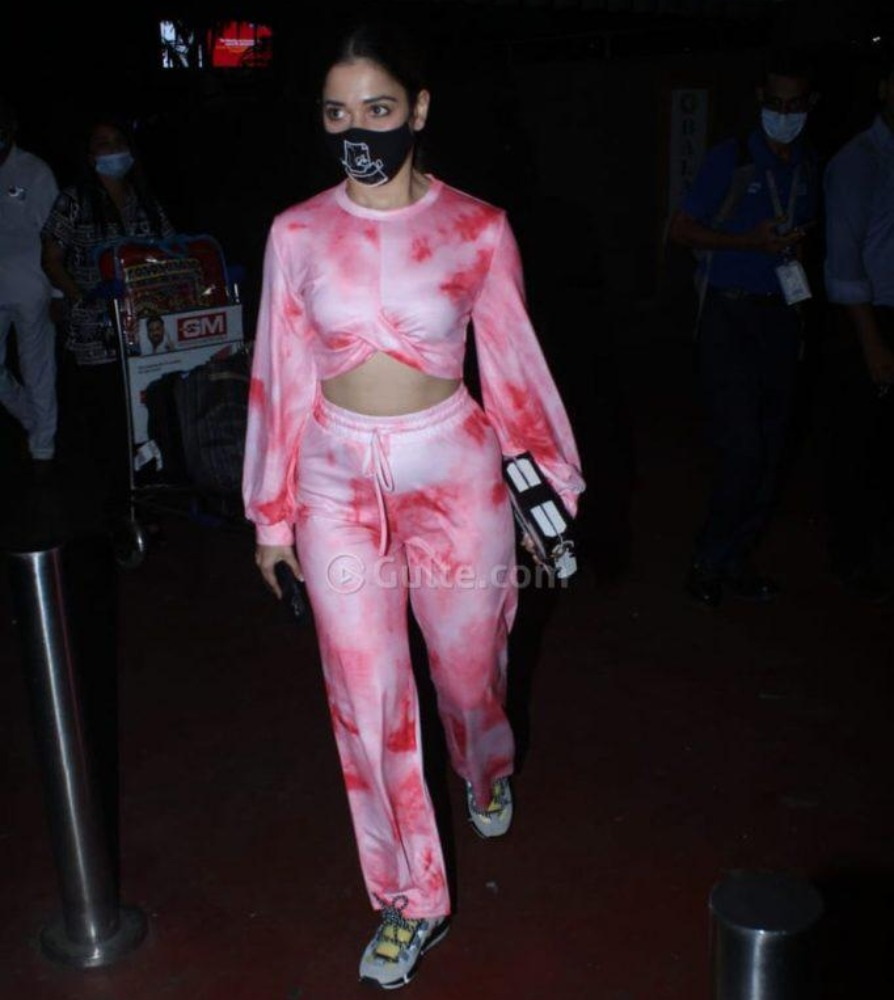 tamannah in tie-dye printed co-ord from cinnamon stitch