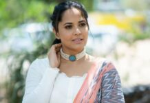 Anasuya Bharadwaj in a traditional saree by Gauri Naidu for Jabardasth-1